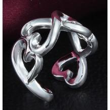Кольцо Tiffany переплетение. Покрытие серебром 925 (TF-R109)