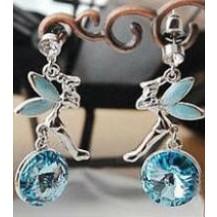 Серьги голубые кристаллы Фея tb1019