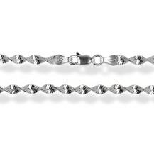 Цепочка 40см. Серебро 925 (плетение  - крученая ёлочка)