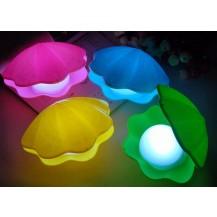 Жемчужина - ночник, меняет цвета, зеленая (светильник Shells Night light)