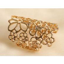 Кольцо ажурное золотистое tb1067