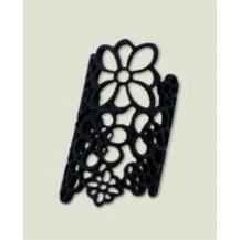 Кольцо ажурное черное tb1068