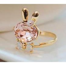 Кольцо Зайка розовое tb1091