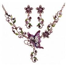 Набор Ажурный с Бабочкой ожерелье и серьги tb1282