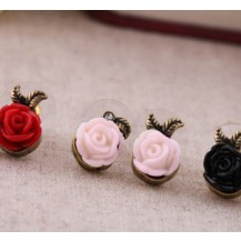 Серьги розочки Розовые tb1042