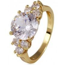 Кольцо Lady позолота Gold Filled с цирконами (GF450) Размер 18
