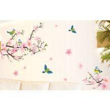 Интерьерная наклейка на стену Цветущий Персик (AY9189 )