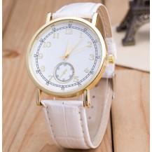Часы Женева Geneva Питон белый ремешок 023-01