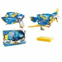Динобот-трансформер - ПТЕРОЗАВР (30 см, бластер, мишень, 20 стрел) от Dinobots - под заказ