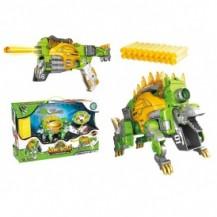 Динобот-трансформер - СТЕГОЗАВР (30 см, бластер, мишень, 20 стрел) от Dinobots - под заказ