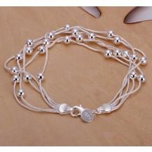 Браслет Шарики Tiffany Покрытие серебром (h234)