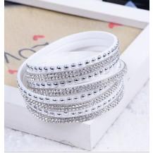 Белый многослойный браслет tb1290