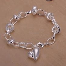 Браслет Tiffany Сердце. Покрытие серебром (TF-H123)