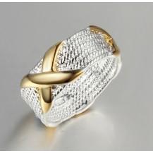 Кольцо Tiffany Покрытие серебром Размер 18 (TF-R057)