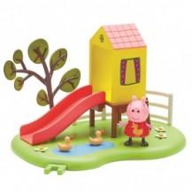 Игровой набор Peppa - ИГРОВАЯ ПЛОЩАДКА ПЕППЫ (домик с горкой, фигурка Пеппы) от Peppa - под заказ