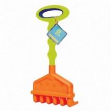 Игрушка для игры с песком - БОЛЬШИЕ ГРАБЕЛЬКИ (цвет красный-лаймовый) от Battat - под заказ