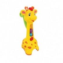 Игрушка-каталка - АККУРАТНЫЙ ЖИРАФ (свет, звук) от Kiddieland - preschool - под заказ