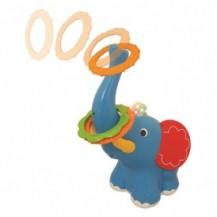 Игрушка-кольцеброс - ЛОВКИЙ СЛОНЕНОК (свет, звук) от Kiddieland - preschool - под заказ
