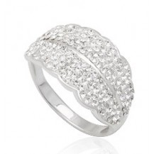 Кольцо TN624. Серебро 925. Swarovski crystals, размер 18