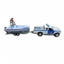 Игровой набор - ВОДНАЯ ПОЛИЦИЯ (спецслужба, патрульный катер - свет, звук) от Технопарк - под заказ