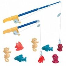 Игровой набор - МАГНИТНАЯ РЫБАЛКА ДЕЛЮКС (2 удочки, 8 морских животных) от Battat Lite - под заказ