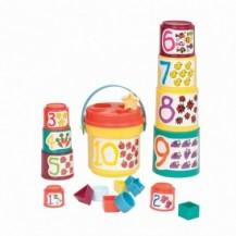 Игровой набор - СОРТЕР-ПИРАМИДКА: ДВА В ОДНОМ (19 предметов) от Battat Lite - под заказ