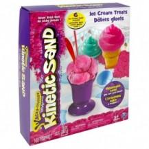Набор песка для детского творчества - KINETIC SAND ICE CREAM (розовый, формочки, 283 г) от Wacky-Tivities - под заказ