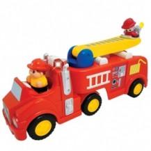 Развивающая игрушка - ПОЖАРНАЯ МАШИНА (механическая, свет, звук) от Kiddieland - preschool - под заказ