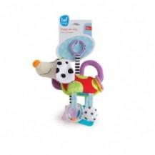 Развивающая игрушка-подвеска - СМЫШЛЕНЫЙ ПЕСИК от Taf Toys - под заказ