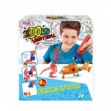 Набор для детского творчества с 3D-маркером  - МАЛЬЧИКИ (3D-маркер – 4 шт, шаблон, аксессуары) от IDO3D - под заказ