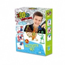 Набор для детского творчества с 3D-маркером - НЕОН (3D-маркер - 2 шт, шаблон, аксессуары) от IDO3D - под заказ