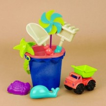Набор для игры с песком и водой  - ВЕДЕРЦЕ МОРЕ (9 предметов) от Battat - под заказ