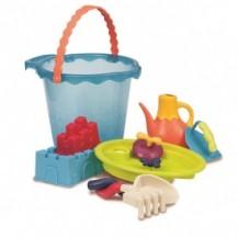 Набор для игры с песком и водой - МЕГА-ВЕДЕРЦЕ МОРЕ (9 предметов) от Battat - под заказ