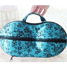 Органайзер - сумочка для бюстгальтеров (с сеточкой) синий в цветах