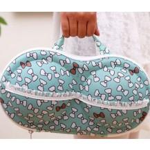 Органайзер - сумочка для бюстгальтеров (с сеточкой) бантики