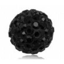 Бусина Шамбала Черная (№280) - цена за 10 штук