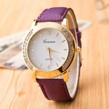Часы Женева Geneva Полукруг сиреневый ремешок