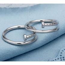 Кольцо в форме гвоздя. Унисекс покрытие серебром TF-T056
