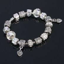 Браслет в стиле Pandora Пандора белый (tb1353)