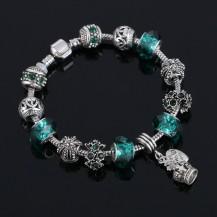 Браслет в стиле Pandora Пандора изумрудный (tb1356)