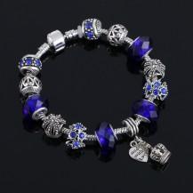 Браслет в стиле Пандора Корона синий tb1357