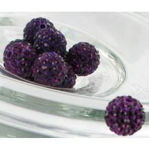 Бусина Шамбала Темно-фиолетовая (№204) - цена за 10 штук
