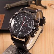 Мужские часы реплика Weide черные (секции по кругу) 042-01