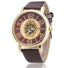 Женские часы Кружево Металл темно-коричневые 044-01