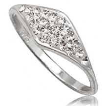 Кольцо TN685. Серебро 925. Swarovski crystals, размер 18