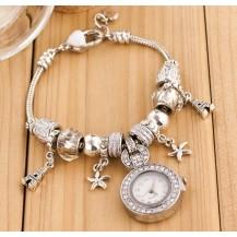 Женские часы в стиле Пандора белые 061-3