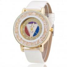 Часы женские Rinnady Кристалл белые 062-2
