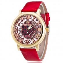 Женские часы Кружево Скелетон красные
