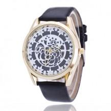 Часы женские Geneva Женева Кружевная Роза черные 068-03