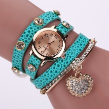 Часы-браслет длинные, наматывающиеся на руку Бирюза 089-1